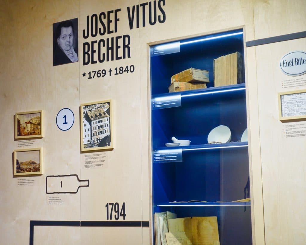 Ausstellung im Becherovka Besucherzentrum