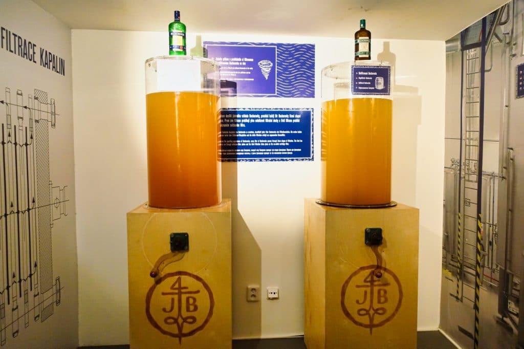 Interaktive Ausstellung im Besucherzentrum Becherovka