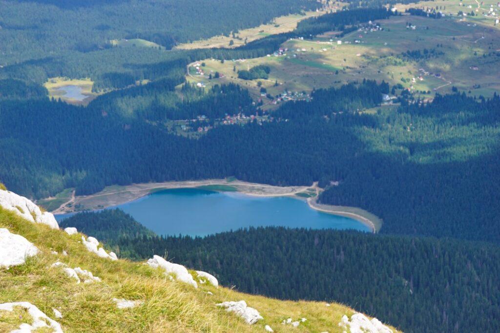 Montenegro Schwarzer See - Crno Jezero  -  von oben