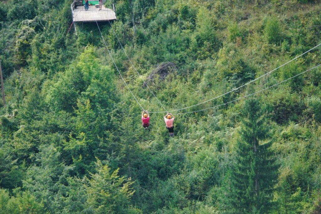 Zip Line über die Tara Schluch im Durmitor Nationalpark