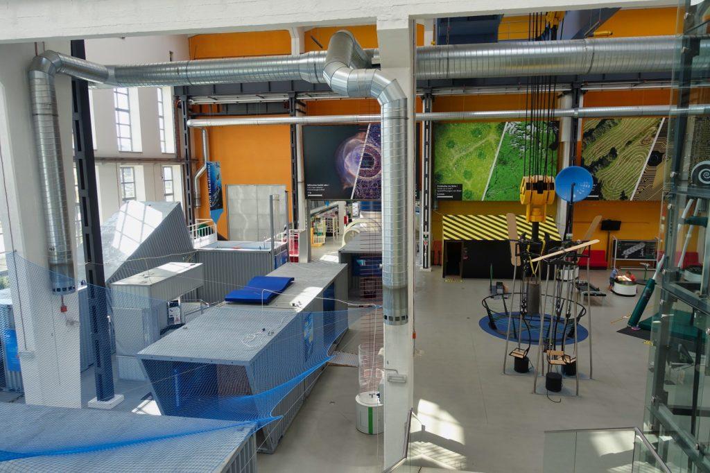 Blick in das Techmania Science Center