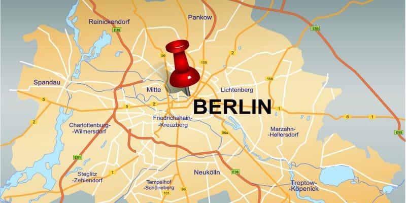Pin in Mitte von Berlin