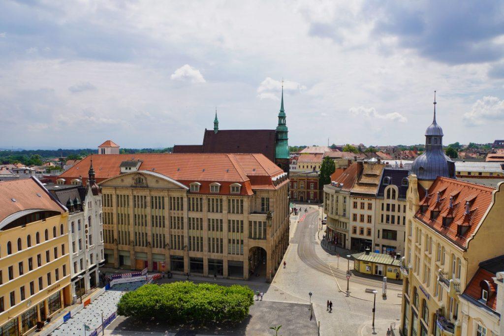 Blick auf das ehemalige Kaufhaus in Görlitz