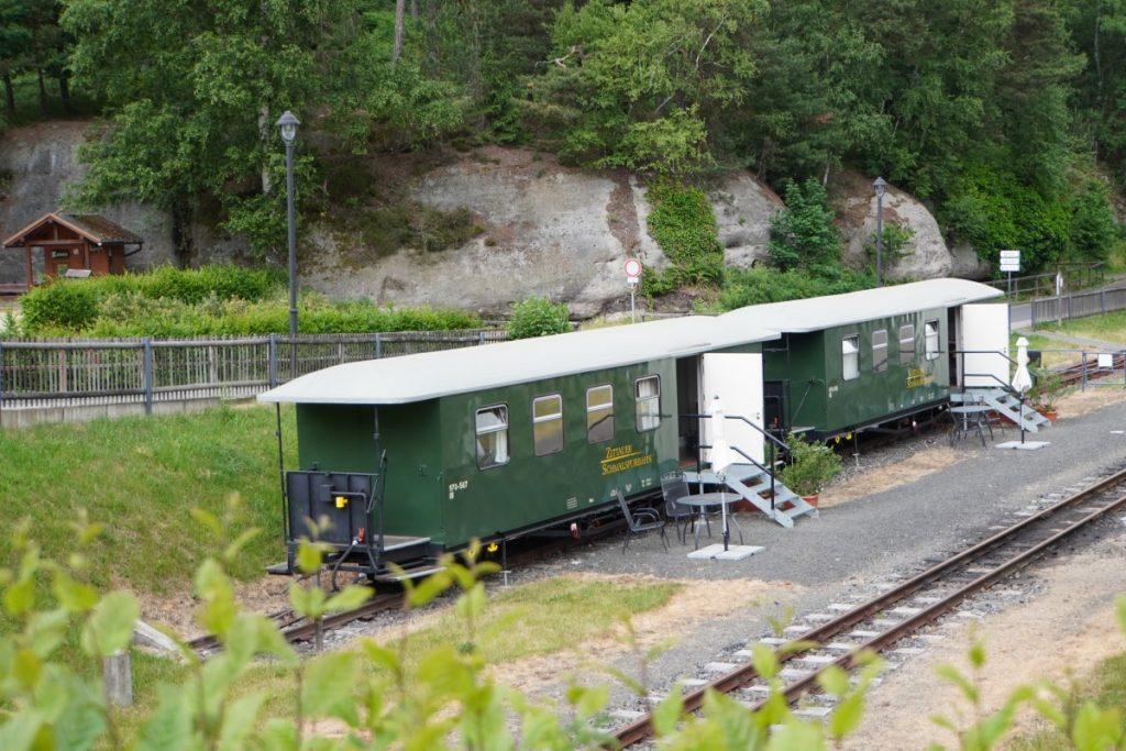 Unterkunft im Eisenbahnwagon