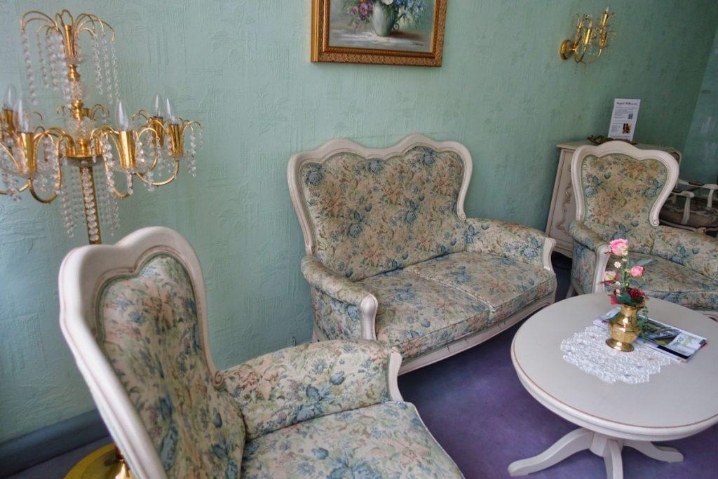 Salon in der Suite im Hotel Alexandra