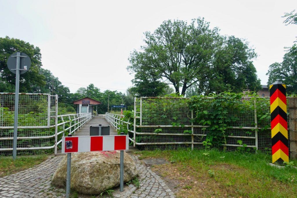 Weg zum Bahnhof in Ostritz