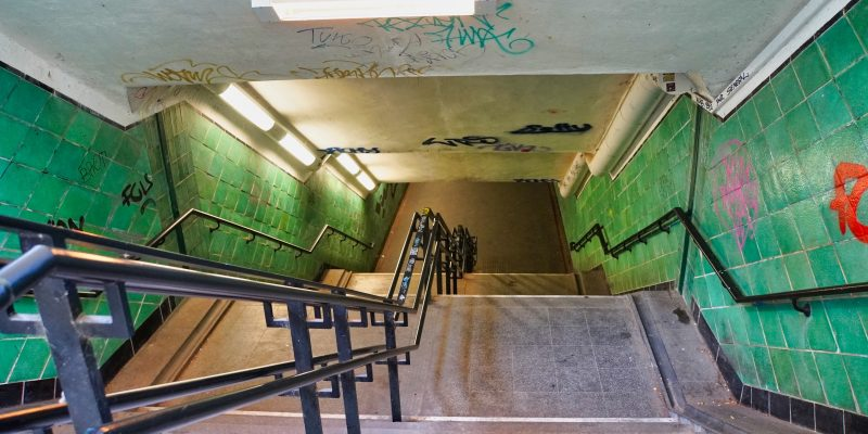 Treppe in den Spreetunnel