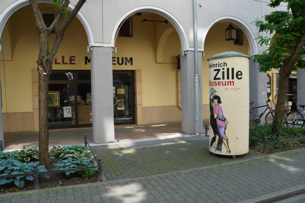 Eingang zum Zille Museum im berliner Nikolaiviertel