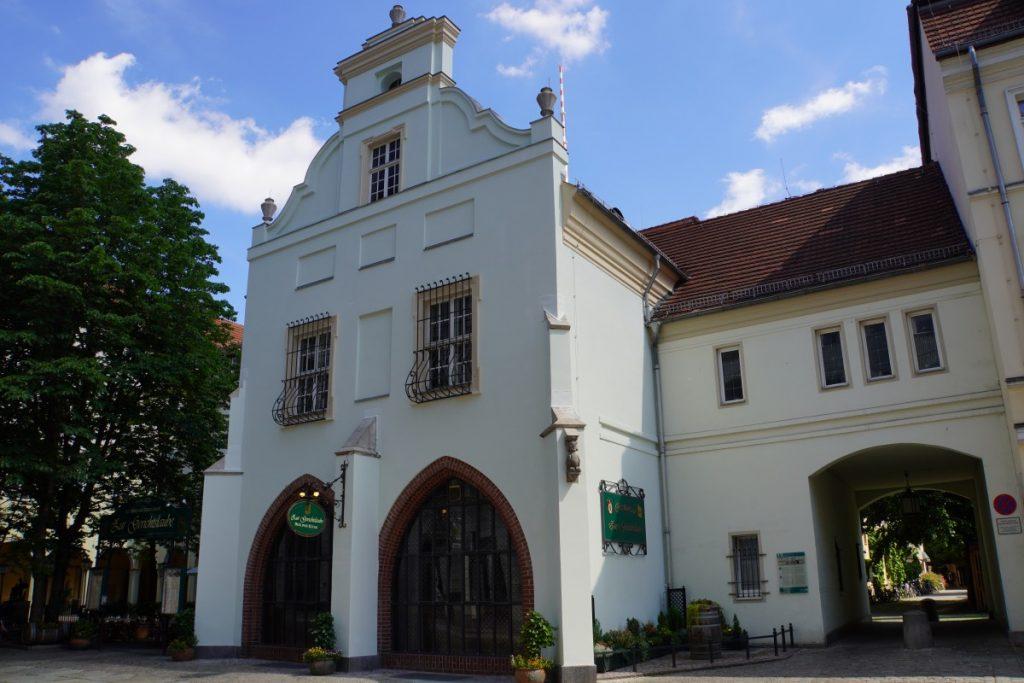 rekonstruierte Gerichtslaube in dem Berliner Nikolaiviertel