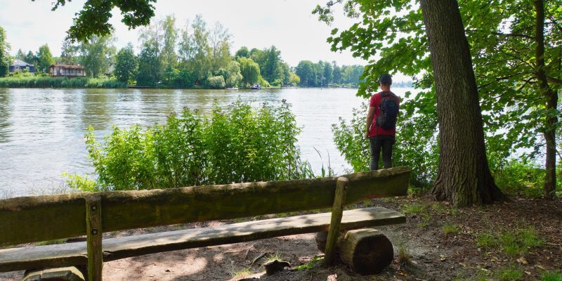 Pause bei der Wanderung in Schmöckwitz