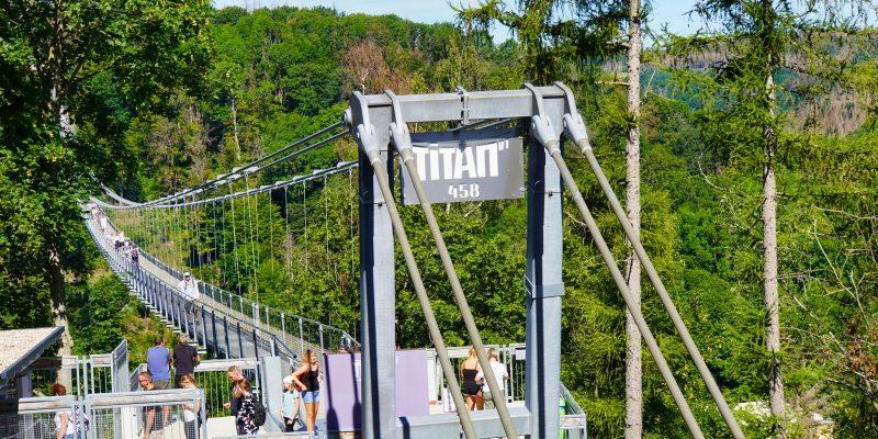 Ausgang der TITAN Hängebrücke im Harz