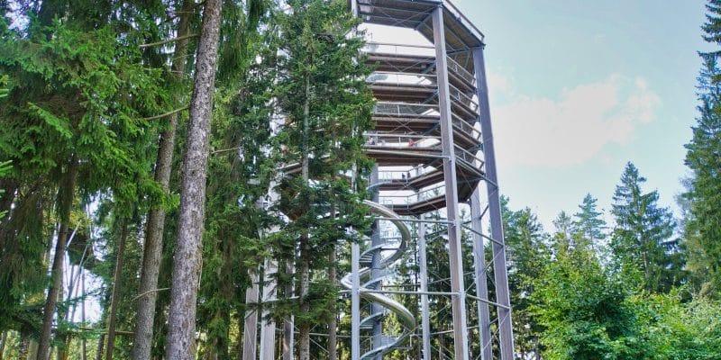 Turm des Baumkronenpfades Lipno