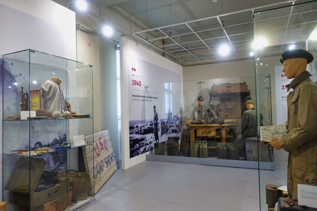 Blick in die Ausstellung im Patton Memorial Pilsen