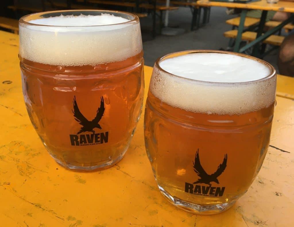 Raven Bier in Pilsen