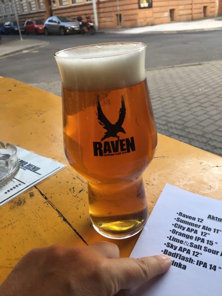 Raven - Bier in Pilsen